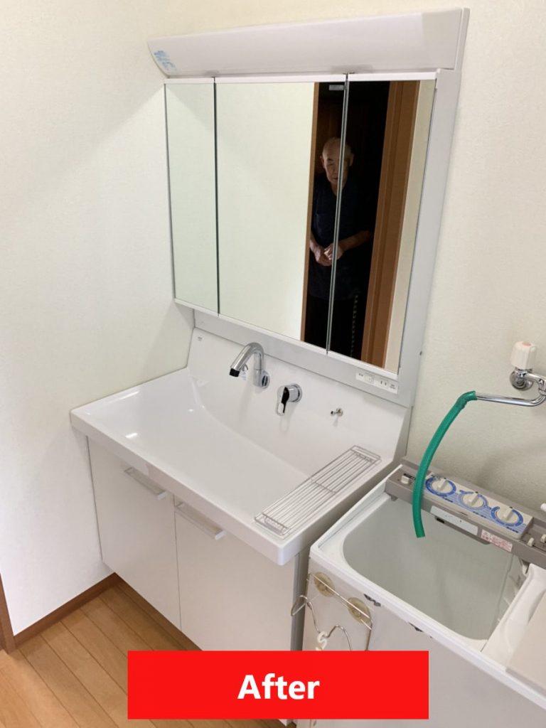 渋川市 洗面化粧台リフォーム