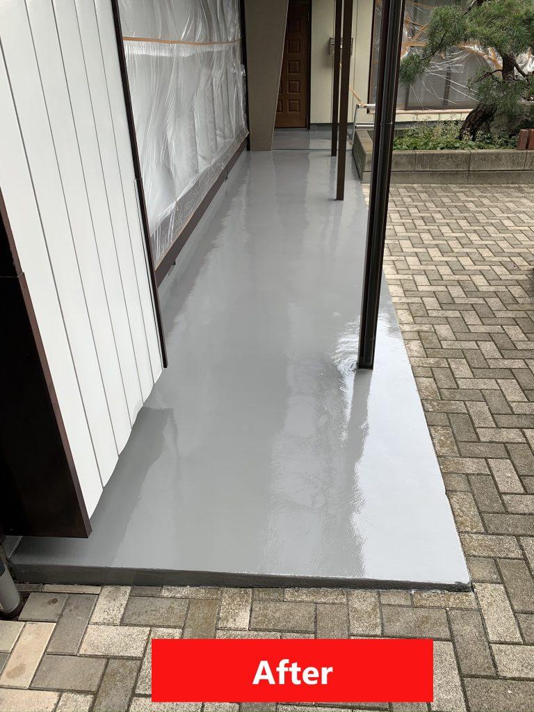 渋川市 外部床塗装