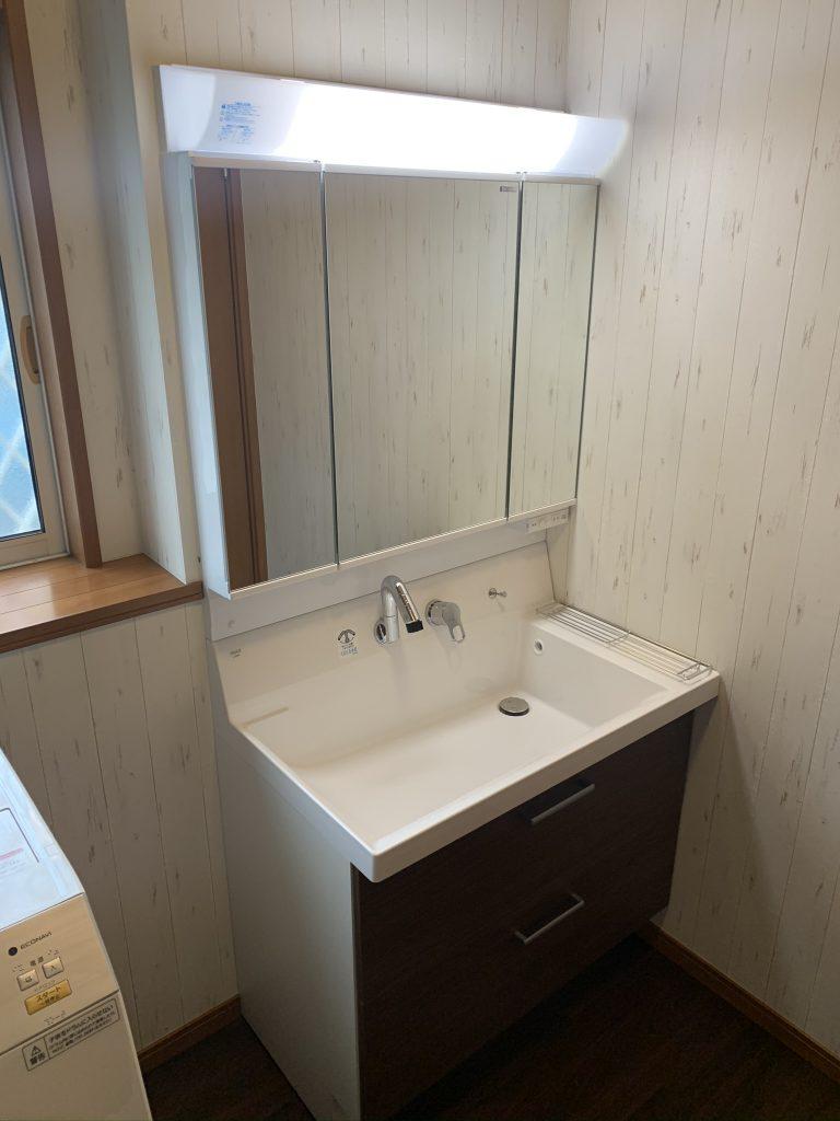 渋川市 洗面台・脱衣室リフォーム