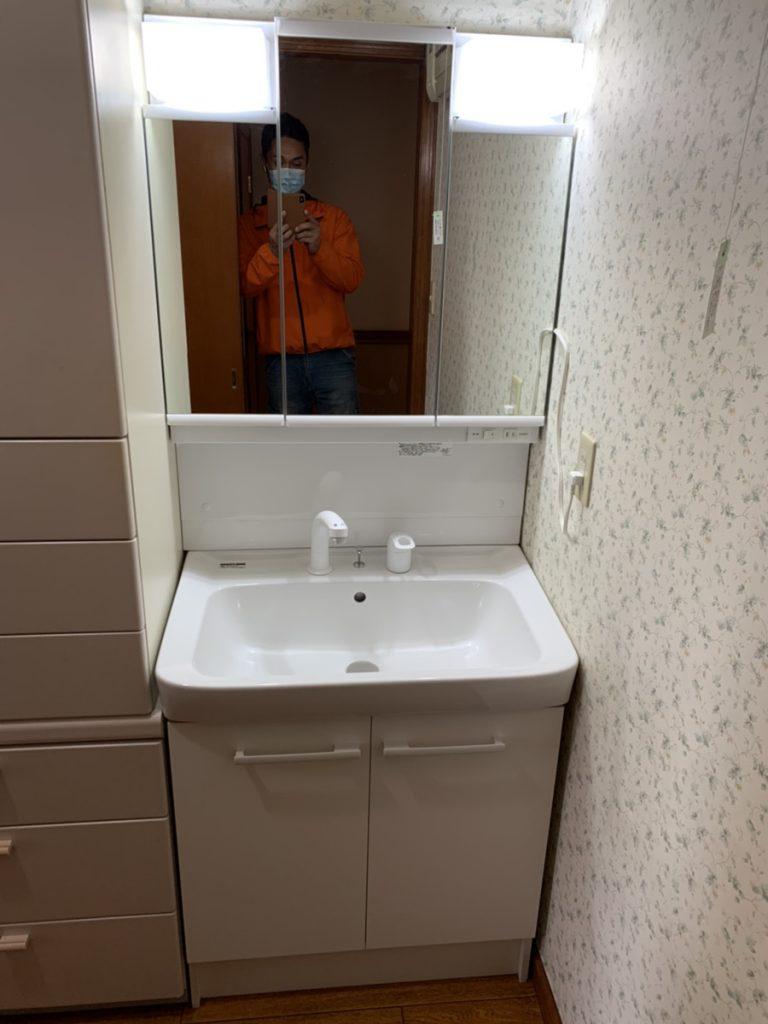 渋川市 洗面台リフォーム・キッチン止水栓交換