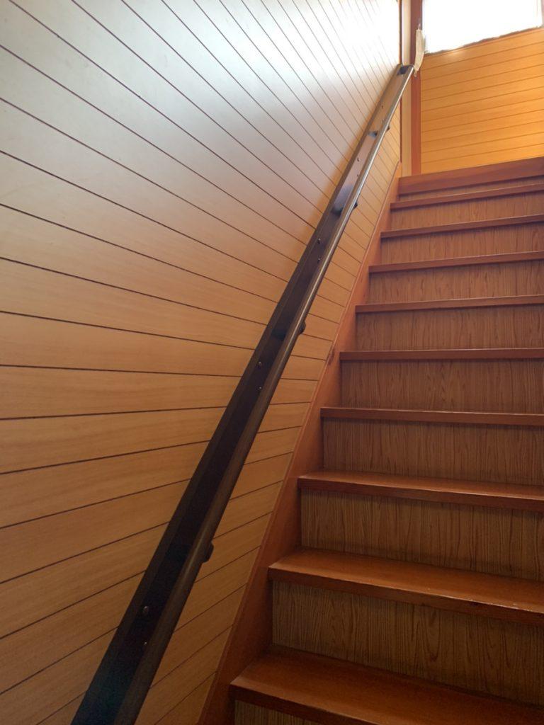 渋川市 階段手すり取付工事  -リフォームモリハウスー