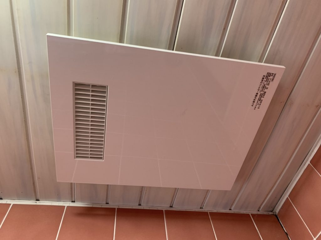 伊勢崎市 浴室換気扇設置 〈三菱 浴室換気乾燥暖房機V-141BZ〉  -リフォームモリハウスー