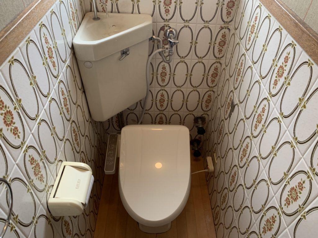 渋川市 トイレ便座交換・止水栓交換工事 《リクシル シャワートイレD》      -リフォームモリハウスー