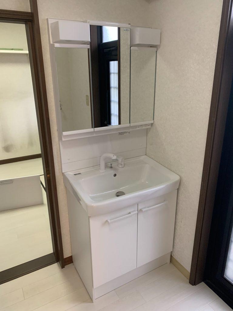 渋川市 脱衣室工事 -リフォームモリハウスー