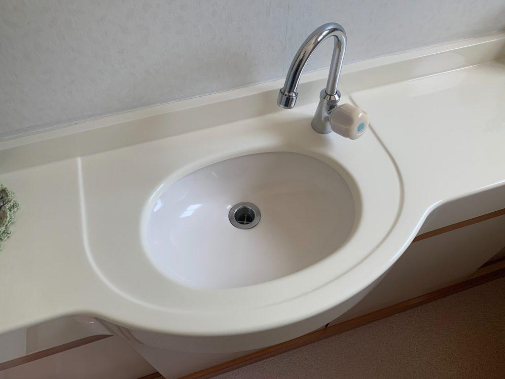渋川市 トイレ手洗器コーティング・パッキン交換 -リフォームモリハウスー