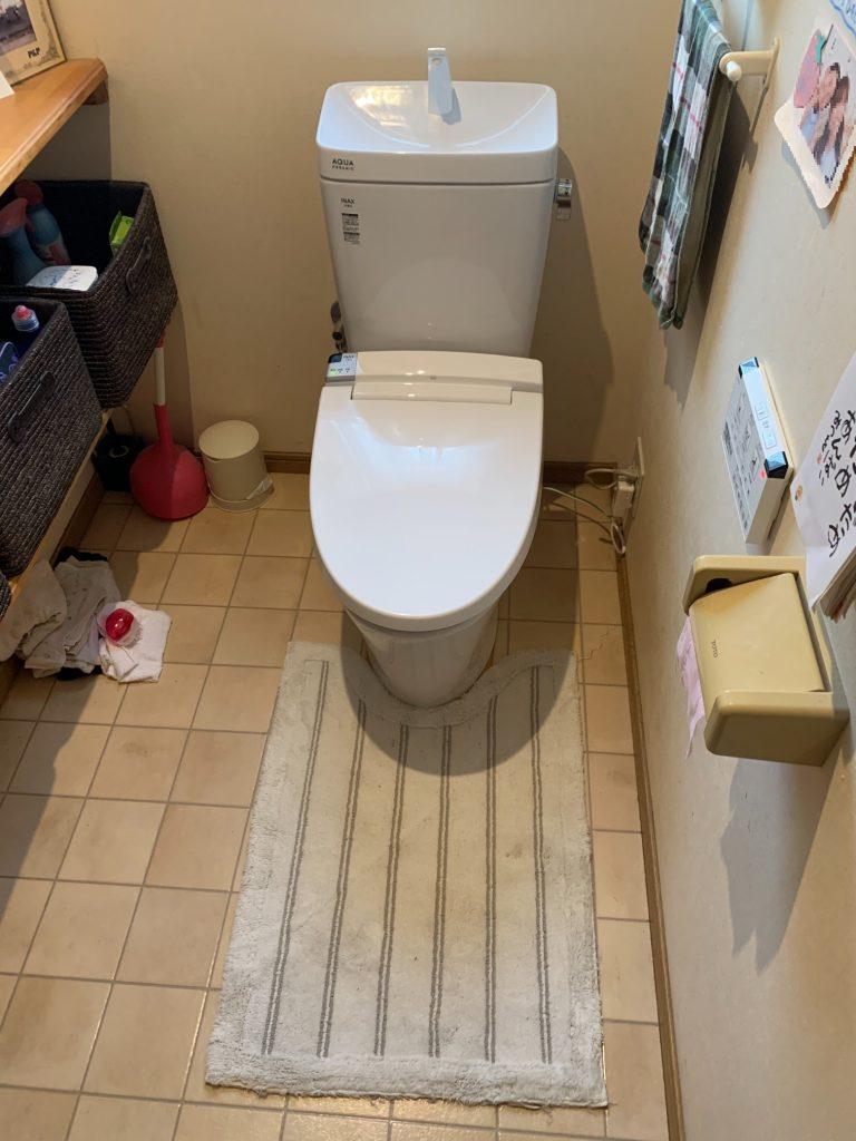 昭和村 トイレ工事 《リクシル アメージュZ+KA21》 -リフォームモリハウスー