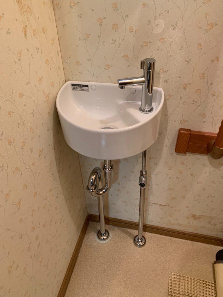 渋川市 トイレ手洗器新設工事 -リフォームモリハウスー
