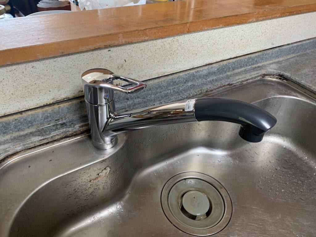 渋川市 キッチン水栓工事 《KVK シングルレバー混合栓》 -リフォームモリハウスー